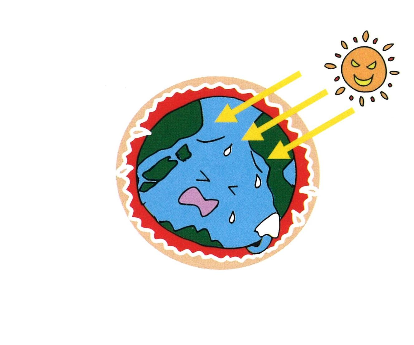 キ・ル・コは、遮断熱で地球温暖化抑制に貢献イラスト