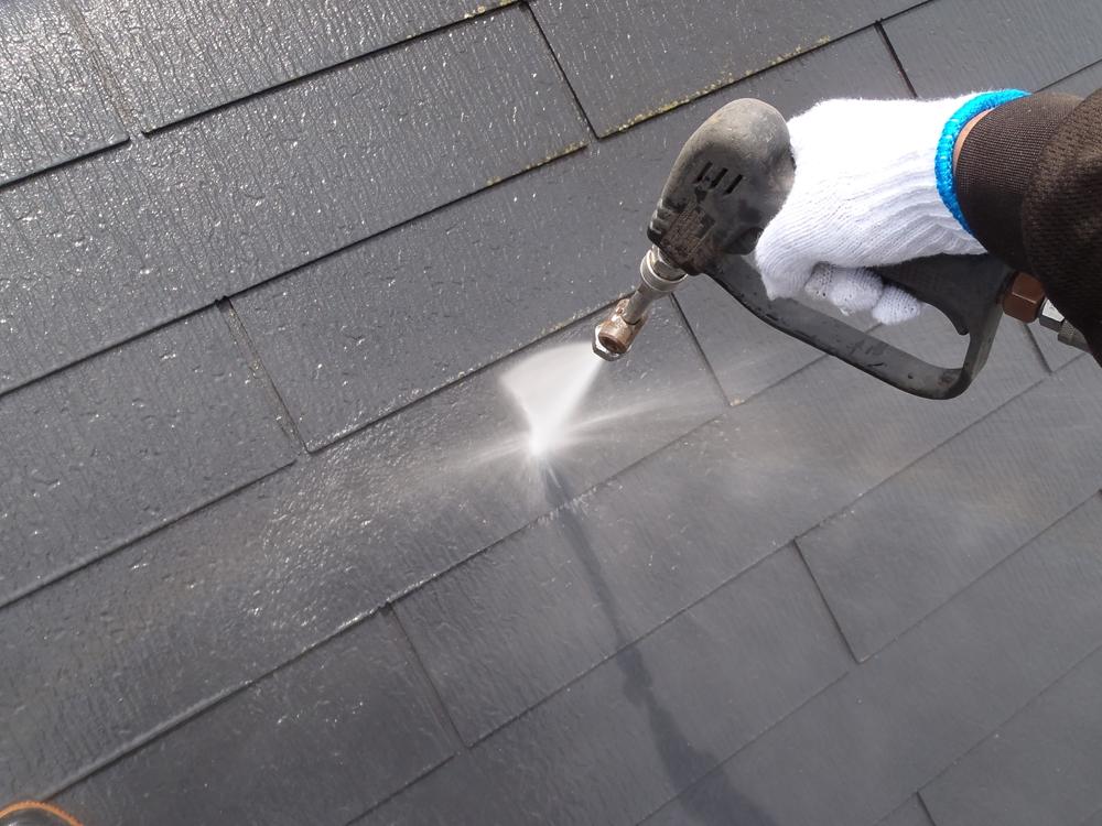 スレート屋根高圧水洗浄