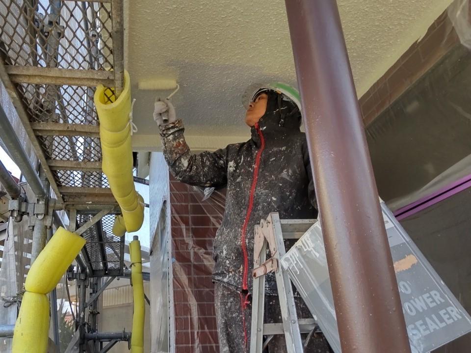 伊奈町外壁塗装付帯部軒天塗装