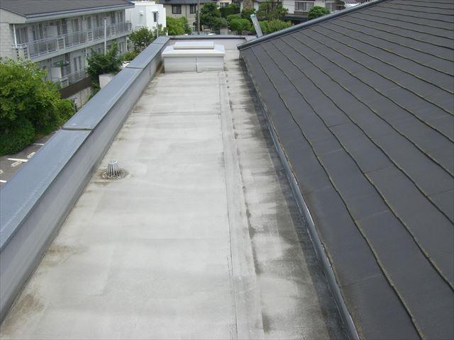 さいたま市 屋根平場塗装前