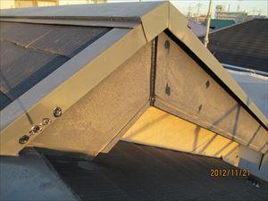 屋根の釘浮き補修