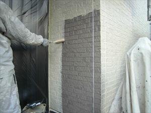 サイディング外壁中塗り