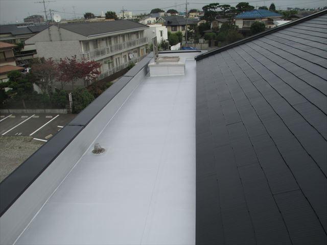 さいたま市 屋根平場塗装後