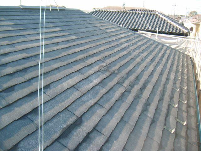 高圧洗浄後屋根全体