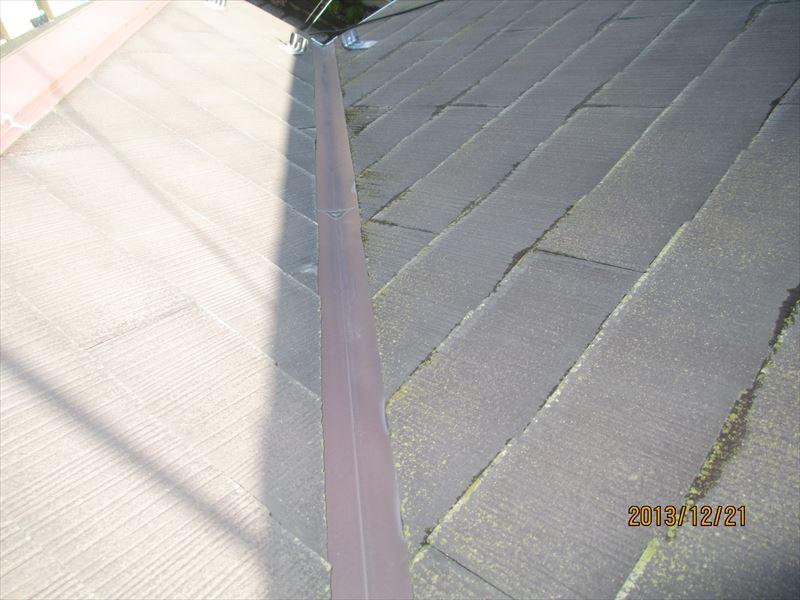 スレート屋根の苔1