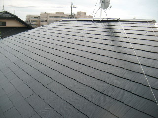 屋根上塗り3