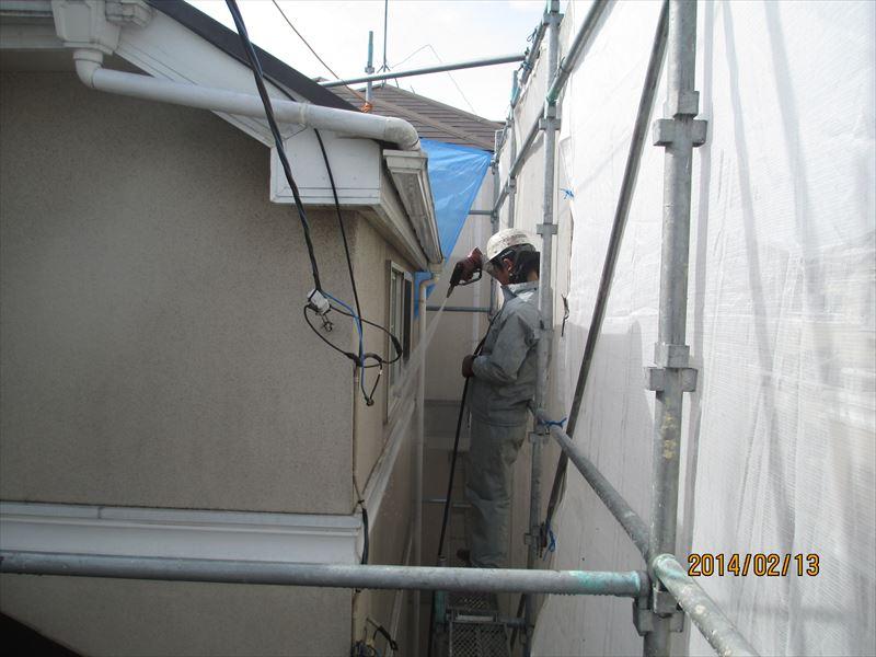 2階の高圧洗浄