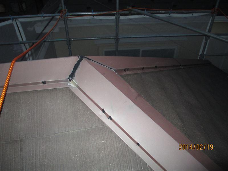 棟板金の補修