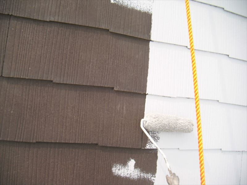 スレート屋根下塗り2