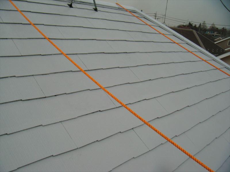 スレート屋根下塗り完成