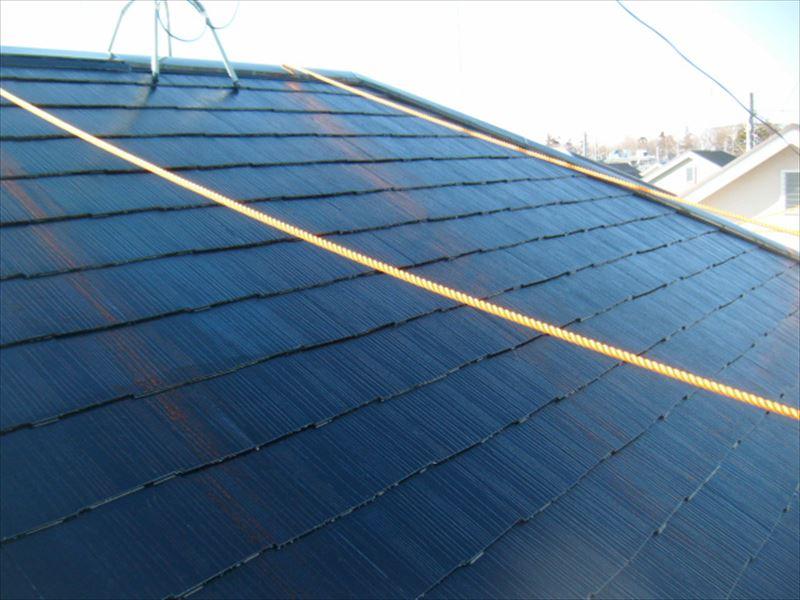スレート屋根の中塗り完了