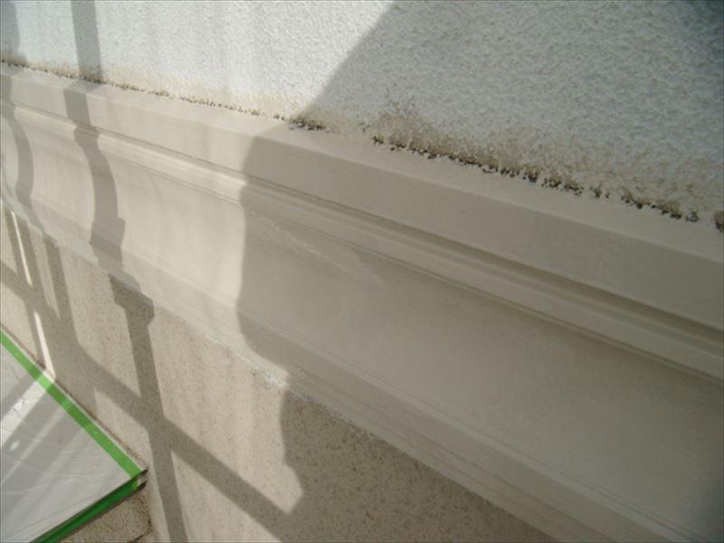 胴差しの上部と壁の角
