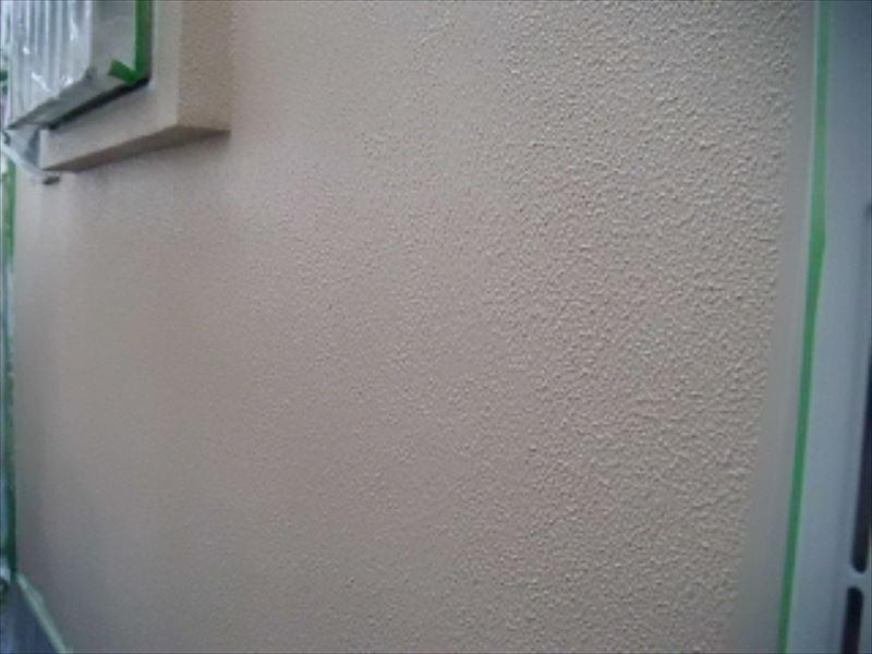 モリタル外壁の中塗り完了