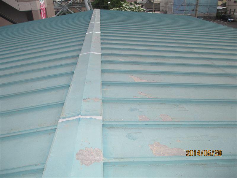 トタン屋根繋ぎ部分補修
