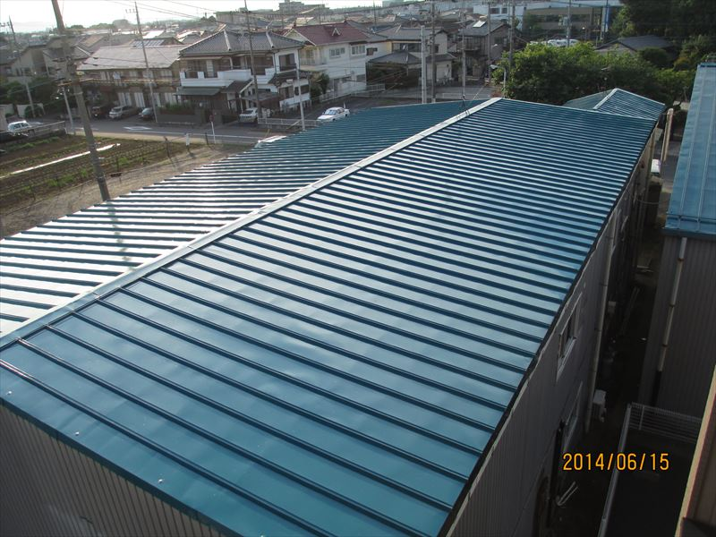 倉庫屋根塗装完成
