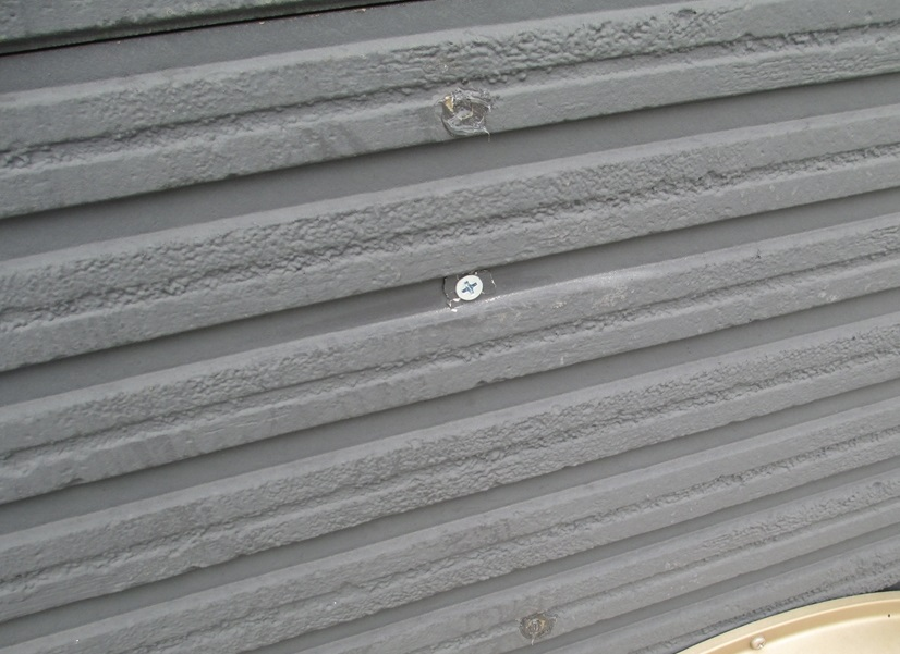 外壁のサイディング止め釘補修
