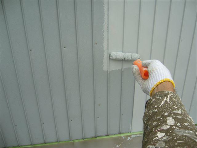 さいたま市北区外壁アステックペイントで下塗り