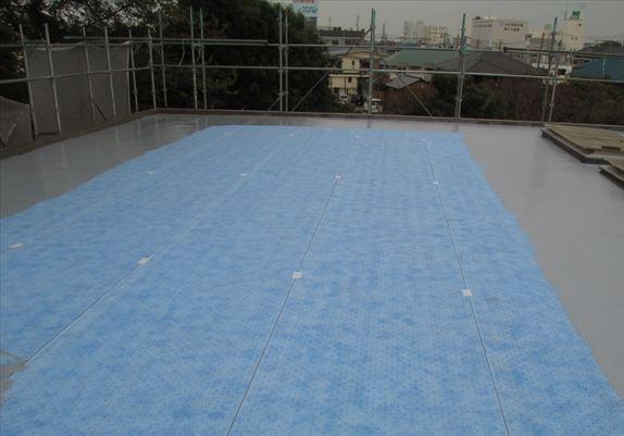 さいたま市北区屋根防水工事サラセーヌAV工法目止め用防水材