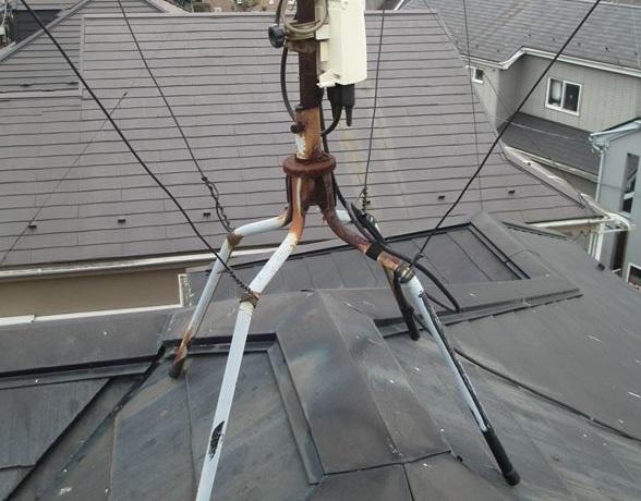 蓮田市の屋根塗装前無料点検劣化したアンテナ