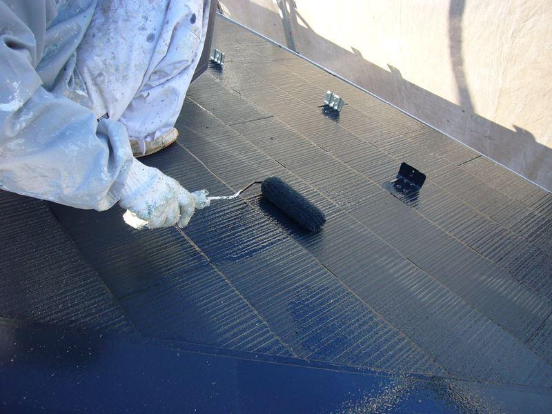 蓮田市スレート屋根上塗り