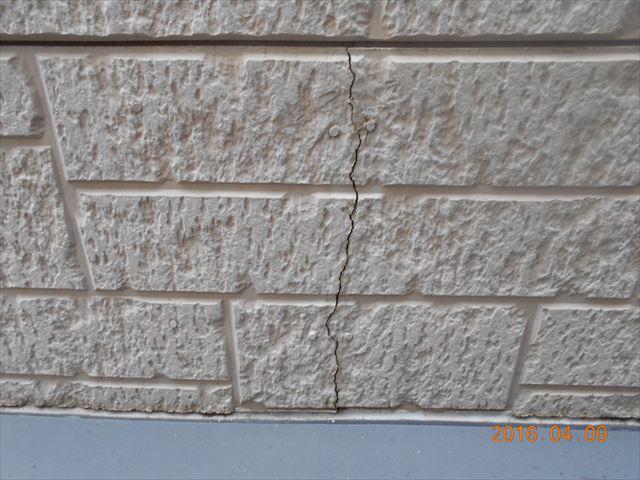 サイディング外壁亀裂