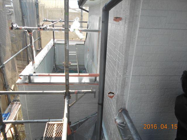 上尾市サイディング外壁下塗り完了