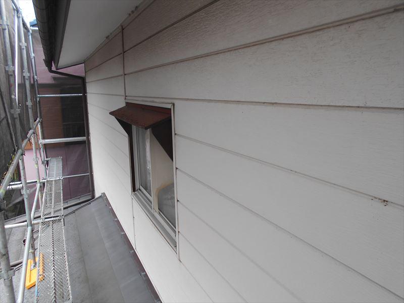 アルミニウムカバー工法の外壁