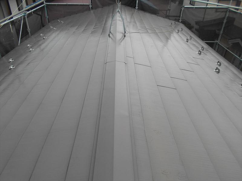 洗浄後屋根