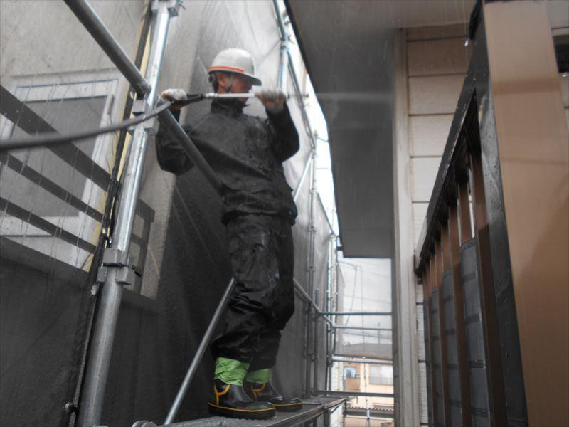 2階外壁洗浄