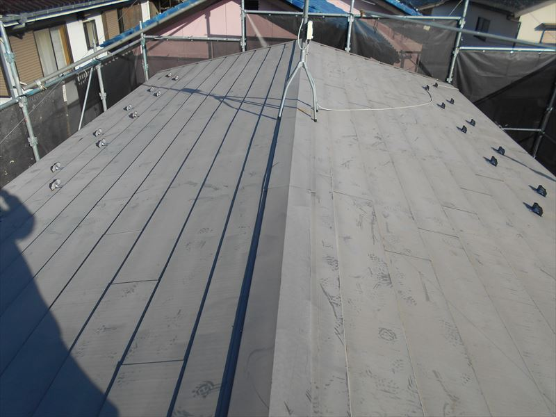 アルミカバー工法の屋根