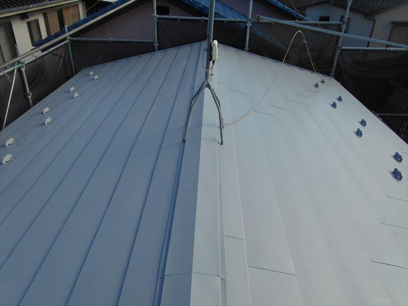 下塗り終了屋根