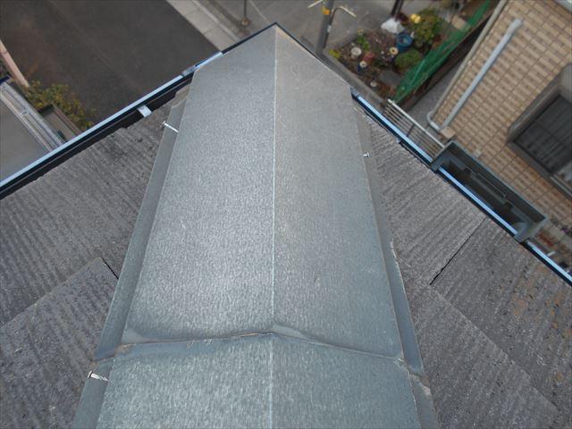 屋根トタン補修前(下がり棟)