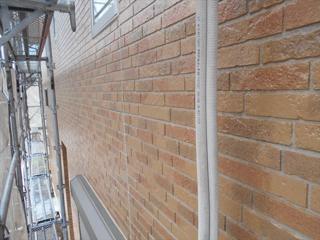 外壁東側「無機ハイブリットクリヤー」で塗装完了