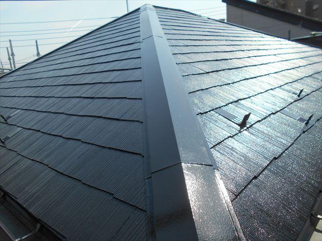 屋根スレート瓦塗装完了