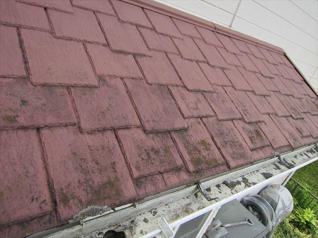 平板瓦のペンキの剥離