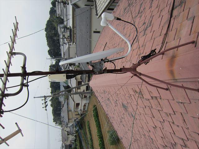 アンテナ支柱さび劣化