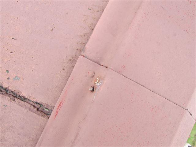 平板瓦の釘の浮き2