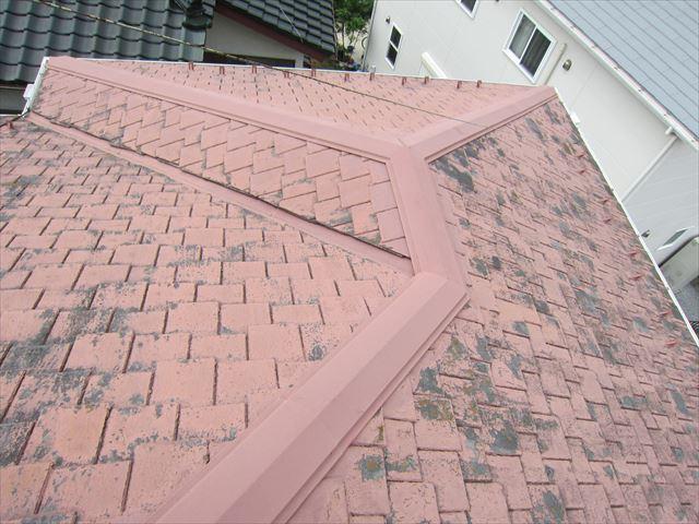 平板瓦の塗膜の剥離2
