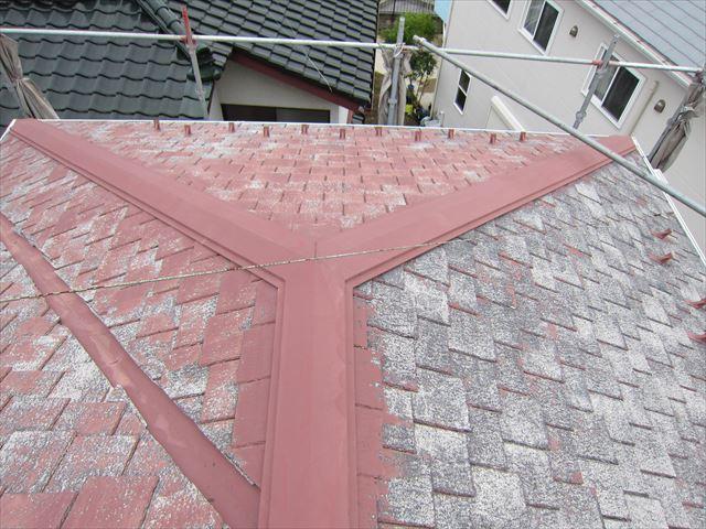 高圧洗浄後のスレート瓦屋根4