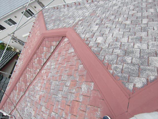 高圧洗浄後のスレート瓦屋根2