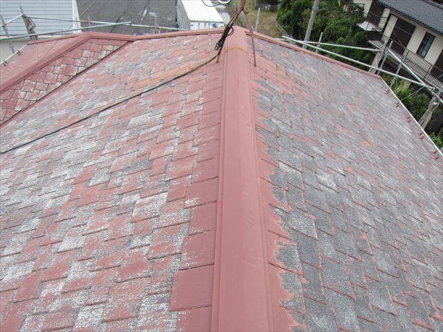 高圧洗浄後のスレート瓦屋根3