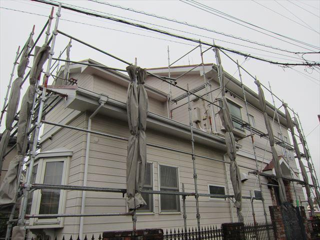 台風前の足場3