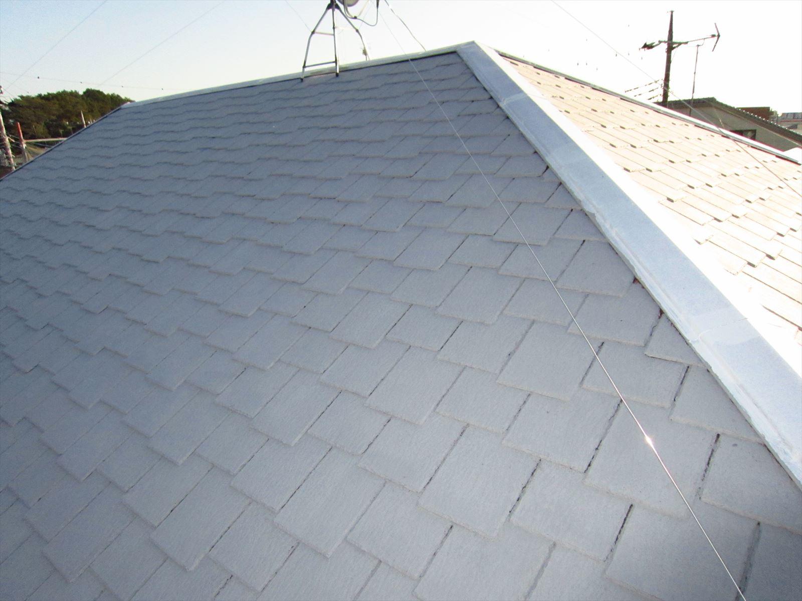 屋根下塗り2度目