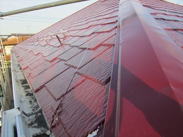 屋根中塗り作業5ニッペサーモアイSi