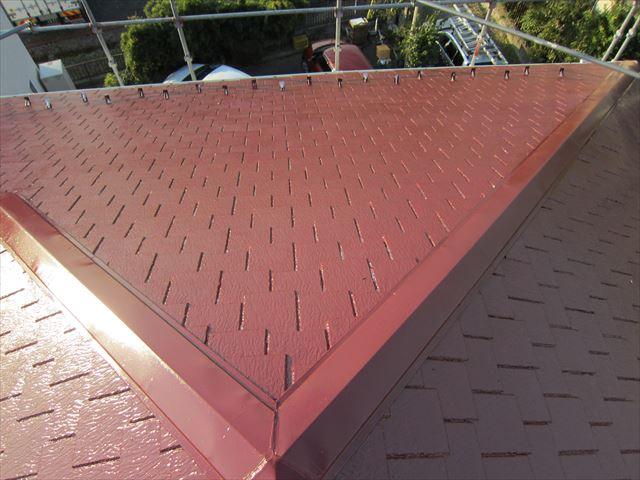 屋根中塗り作業3ニッペサーモアイSi