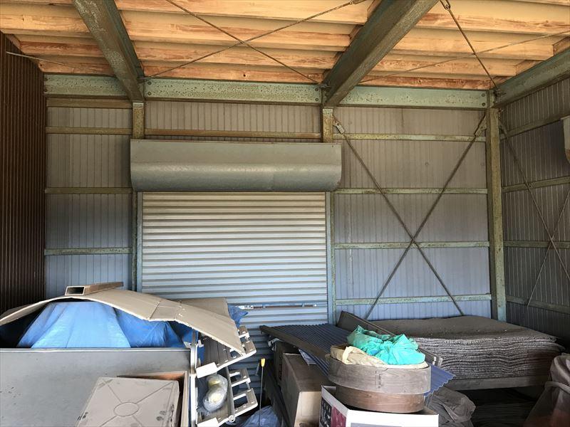 2階建て倉庫内側