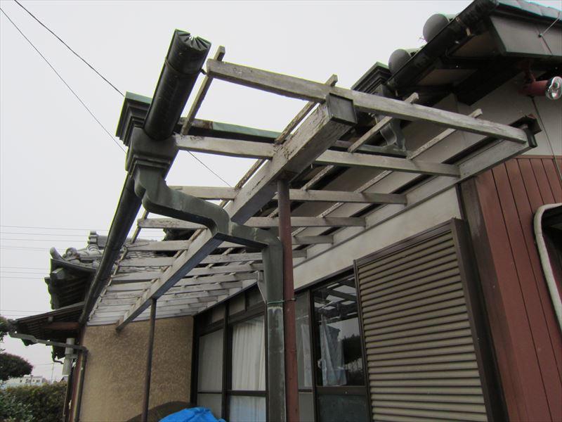 縁側屋根取り外し