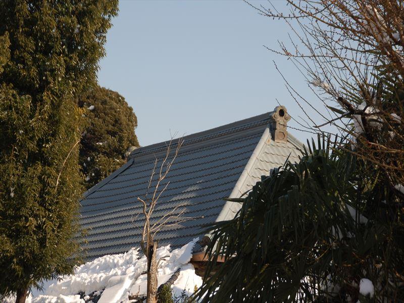 雪が残らない急勾配の屋根