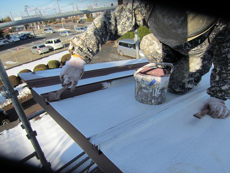 トタン屋根中塗り2
