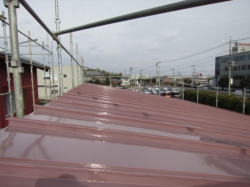トタン屋根上塗り